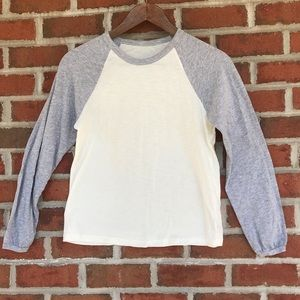 Real soft T-shirt by aerie grey cream tee gray t